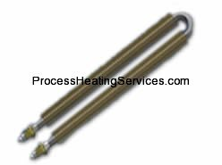 U BENT HEATING ELEMENT INCOLOY 800 FINNED