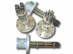 stainless steel flanged immersion heater